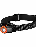cheap -, mh5 lightweight multipurpose magnetic rechargeable headlamp with removable lamp head and metal pocketclip, high power led, 400 lumens, backpacking, hiking, camping, black/orange