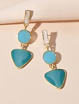 cheap -Women's Drop Earrings Geometrical Sweet Earrings Jewelry Blue / Blushing Pink For Date Festival