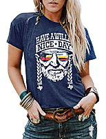 cheap -women have a willie nice day t shirt women summer casual willie nelson graphic short sleeve tees tops blue