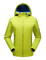 cheap -Women's Hiking Jacket Winter Outdoor Solid Color Waterproof Windproof Fleece Lining Breathable Jacket Single Slider Hunting Ski / Snowboard Fishing Black Blue Green Rose Red / Warm