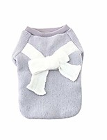 cheap -pet clothing, puppy girl poodle adorable bowknot sweater winter warm small dog coat (gray, s)