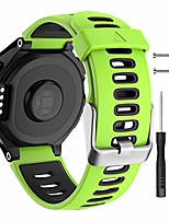 cheap -watch strap for garmin forerunner 735xt 235 235lite 230 220 620 630, soft silicone replacement band for approach s20 s5 s6 watch accessory (green)