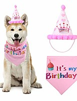 cheap -dog birthday bandana for girls, pet scarfs and reusable hat for small to large doggie cats party decoration