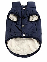 cheap -double layer fleece warm dog jacket coat vest for puppy winter cold weather soft windproof apparel for small medium large dogs (s)