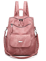 cheap -Travel Bag College Bookbag Large Capacity Waterproof Multipurpose Casual Outdoor Travel PU Leather Vintage Gift For Women 35*6*30 cm