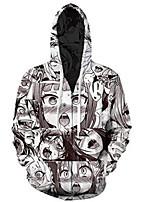 cheap -Inspired by Ahegao Ahegao Cosplay Costume Hoodie Terylene 3D Printing Hoodie For Men's / Women's
