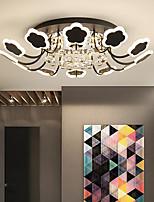 cheap -8/10/12/16 Heads LED Petal Chandelier Crystal Ceiling Light Modern Luxury Living Room Lamp Atmosphere Household Living Room