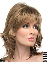 cheap -Synthetic Wig Curly Water Wave With Bangs Wig Medium Length Blonde Synthetic Hair Women's Fashionable Design Classic Exquisite Blonde