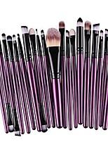 cheap -20 pcs/set of makeup brush tools,wool make up brush set make-up toiletry kit (purple)