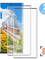 cheap -[2 pack] screen protector tempered glass for galaxy note 10, hd screen glass [9h hardness] [3d curved full coverage] [fingerprint unlock support] premium protective film for samsung galaxy note 10