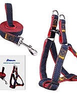 cheap -dog leash harness, adjustable and heavy duty durable denim dog leash collar for training walking running, best for large medium small dog