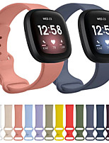 cheap -For Fitbit Versa 3/Fitbit Sense Silicone Strap Bracelet Adjustable Wristband Smart Watch Accessories