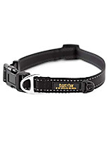 cheap -reflective dog collar | premium nylon, high visibility pet collar with buckle and reflective stitching, light weight and adjustable, perfect for small and large dogs