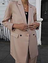 cheap -women's @leoniehanne beige loose double breasted silky long blazer, xs