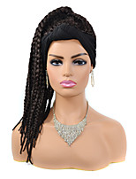 cheap -Synthetic Wig Afro Plaited Braid Wig Long Black / Brown Synthetic Hair Women's Creative New Arrival Cool Brown