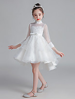 cheap -Princess Cosplay Costume Masquerade Girls' Movie Cosplay A-Line Slip Halloween White / Pink Dress Halloween Children's Day Masquerade Polyester Organza