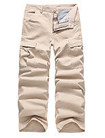 cheap -Men's Hiking Pants Trousers Hiking Cargo Pants Solid Color Summer Outdoor Breathable Ventilation Soft Comfortable Cotton Pants / Trousers Black Army Green Khaki Dark Navy Hunting Fishing Climbing 28