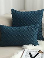 cheap -2pcs Handmade Deerskin Velvet Woven Cushion Cover And Pillowcase