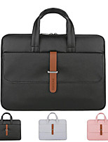 cheap -13.3 Inch Laptop / 14 Inch Laptop / 15.6 Inch Laptop Sleeve / Briefcase Handbags / Tablet Cases PU Leather / Polyurethane Leather Solid Colored for Men for Women for Business Office Waterpoof Shock