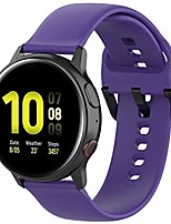 cheap -fit for samsung galaxy watch active 2 watch bands, 20mm silicone quick release replacement band straps wristbands fit for garmin vivoactive 3 music women men (purple, small)