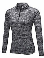 cheap -women's pullover slim fit 1/4 zip fleece lined yoga workout sweatshirt