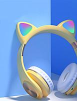 cheap -Bluetooth 5.0 Headphones Headset Earphone Cat Kitty Earphone LED Music Wireless Headphones