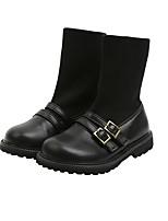 cheap -Boys' Girls' Boots Combat Boots PU Little Kids(4-7ys) Big Kids(7years +) Walking Shoes Black Fall Winter / Mid-Calf Boots / Rubber