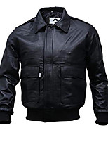 "cheap -mens a-2 flight air force bomber leather jacket | black - brown genuine lambskin leather jackets for men (black, large (body chest 43"" to 45""))"