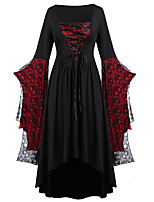 cheap -lady medieval renaissance dress masquerade women's lace costume black vintage cosplay party halloween long sleeve