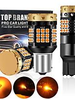 cheap -2Pcs Canbus P21W Led PY21W  BA15S BAU15S W21W 7440 1156 Led Bulb  Bulb T20 2000LM 3030 Chips Car Rear Car Signal Light Amber