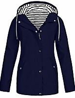 cheap -kstare women raincoat plus size with hood trench coats travel lightweight outdoor rain windproof windbreaker jacket navy