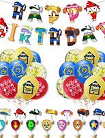 cheap -Party Balloons 38 pcs Happy Birthday Party Supplies Latex Balloons Banner Boys and Girls Party Birthday Decoration 12 Inch for Party Favors Supplies or Home Decoration