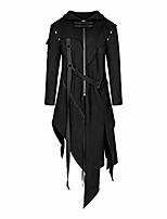 cheap -men's coat fashion zipper asymmetrical hoodie jacket retro punk style party outwear(black,m)