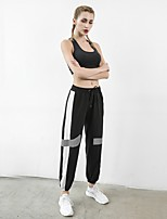 cheap -Women's Sporty Sports Loose Daily Sweatpants Pants Multi Color Full Length Patchwork Drawstring High Waist White Black Blushing Pink