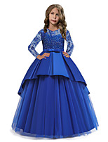 cheap -Princess Dress Party Costume Flower Girl Dress Girls' Movie Cosplay Princess White / Red / Pink Dress Children's Day Masquerade Polyester