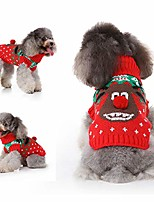 cheap -rudolph the red nosed reindeer dog sweater pet christmas sweater winter knitted warm clothes for small medium dogs cats (s)