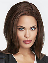 cheap -Synthetic Wig Natural Straight Middle Part Wig Medium Length Dark Brown Synthetic Hair Women's Fashionable Design Exquisite Dark Brown