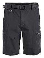 cheap -mens hiking outdoor stretch quick dry elastic waist cargo shorts black s