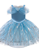 cheap -Princess Cosplay Costume Costume Girls' Movie Cosplay Sweet Euramerican Blue Dress Christmas Halloween Carnival Polyester / Cotton Polyester