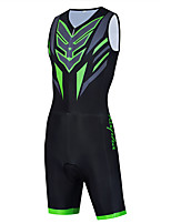 cheap -WECYCLE Men's Women's Sleeveless Cycling Jersey with Shorts Triathlon Tri Suit Summer Black Bike Breathable Quick Dry Sports Graphic Mountain Bike MTB Road Bike Cycling Clothing Apparel / Stretchy