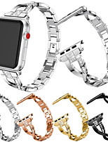 cheap -Watch Band for Apple Watch Series 6 / SE / 5/4 44mm / Apple Watch Series 6 / SE / 5/4 40mm Apple Jewelry Design Stainless Steel Wrist Strap