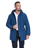 cheap -men's vegan down drawstring winter jacket sea blue