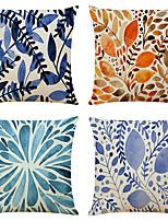 cheap -Set of 4 Art Plant Linen Square Decorative Throw Pillow Cases Sofa Cushion Covers 18x18
