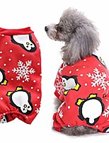 cheap -warm pet sweater puppy clothes for cold weather & christmas pet dog puppy cute snowflake penguin print clothes warm costume coat