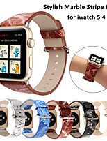 cheap -Stylish Marble Stripe Leather Strap for Apple Watch Band Series 6 SE 5 4 3 2 for iwatch 38/42mm 40/44mm