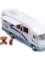 cheap -7.6 inch cool mini motorhome toy die-cast pullback recreational vehicle pull back rv with diy furnitures holiday camper van model for kids children gift (beige)