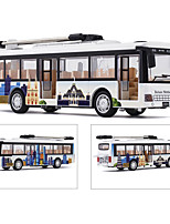 cheap -Alloy Bus Toy Car Pull Back Vehicle Simulation Music & Light All Adults Kids Car Toys