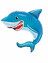 "cheap -happy blue shark jumbo 36"" foil party balloon"