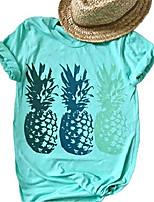 cheap -women cute graphic pineapple tee shirt summer beach casual short sleeve loose tops blouse hawaii t-shirt size s & #40;blue& #41;
