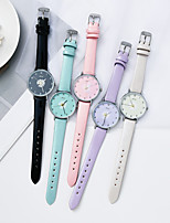 cheap -Women's Quartz Watches Quartz Stylish Casual Casual Watch Analog White Black Purple / PU Leather